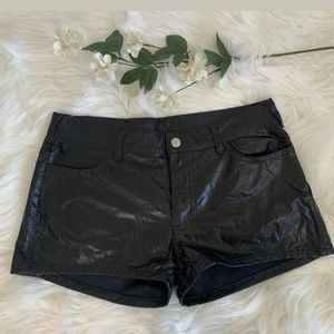 Super sexy vintage Y2K Playboy faux leather shorts